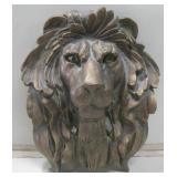 "11""x 14"" Resin Lion Head Wall Decor"