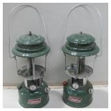 Two 1980 Coleman Lantern Missing Glass Untested