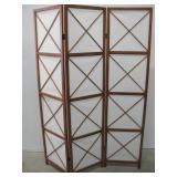 "51""x 70.5"" Wood & Fabric Room Divider Screen"