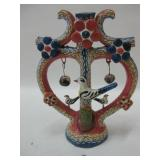 """7""""x 9"""" Decorative Clay Candle Holder"""