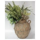 """12""""x 13"""" Clay Pot Vase W/Faux Flowers"""