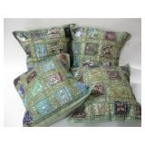 "Four 14""x 14"" Decorative Throw Pillows"