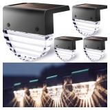 Solar Deck Lights Outdoor Lighting Decorative 4 Pk