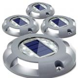 SET OF 2 Solar Deck Lights Driveway Dock LED-NOTE