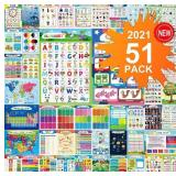 51PCS Educational Preschool Posters For Toddlers