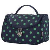 Travel Makeup Bag Cute, Yeiotsy Polka Dots Bag