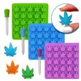 Gummy Leaf Silicone Candy Mold Party 3 Pack