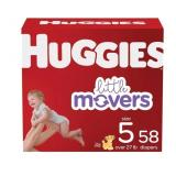Huggies Little Movers, size 5, 58 ct