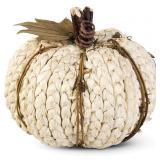 6-PK Braided Cornhusk Pumpkin w Grapevine Accents