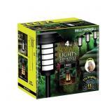 4-PACK Bell Howell Solar Black LED 2 Modes Lights
