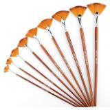 AIEX 9 Pieces Fan Paint Brushes, Anti-Shedding