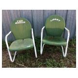 Green Metal Lawn Chairs