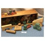 Wooden Box of wooden blocks