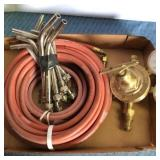 Cutting Torch, Hose, Victor Gauge & attachments