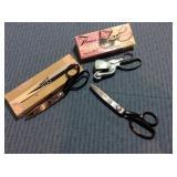 3 Pair Pinking Shears (2) w/ box
