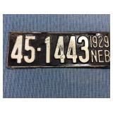 Nebraska License Plate, 1929