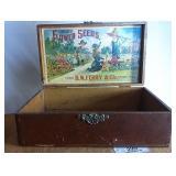 Vintage Seed Box - Choice Flower Seeds