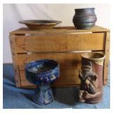 Pottery Cowboy Mug & misc pcs
