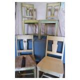 4) Oak Painted Chairs