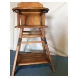 VTG Wooden Highchair converts to table & chair