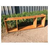 """Wooden Shelf / Stand 73"""" w x 14"""" d x 24"""" h"""