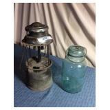 Atlas Jar w/wire bail & Lantern, no glass globe