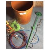 Dog Cable Tie Out Cables & Stakes & misc