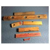 Assorted old Wooden Levels