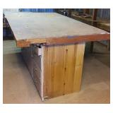 """Work Bench w/2 vises, drawers in base, 81.5""""x48""""x"""