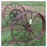 """Steel Wheels on axle, 39.5"""""""