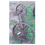 """Steel Wheels on axel, 27"""""""