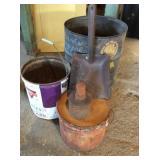 NDA Large Oil Drum, Shovel Head, Conoco Can