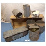 Case Tool Box, assorted tins