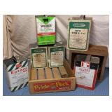 Wooden Cherry Crate & 6 Tins, Wooden Box