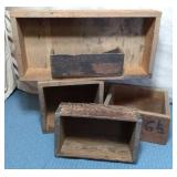 Wooden Boxes, assorted