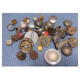Old Gas, Radiator Etc. Caps, oil spouts, misc