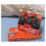 Coke 6 pack, Red White & Blue Painted Anvil, Red