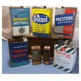 Wooden Boxes & 5 Tins