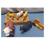 Sm Wooden Box, Wooden Train, Assorted Plastic Toy