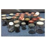 Assorted VTG Small Jars, some w/tacks & nails