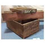 Gilt Edge Brand Prunes Wooden Box, Long Box, Flat
