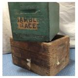 Lot of 2 Wooden Shell Boxes