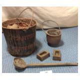 Lead Melting Pots, Laddle, ? molds & 2 flats of