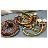 4) A/C Re-charging Hoses & Guages