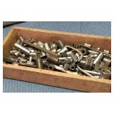 Wooden Box of Assorted Sockets
