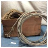 Wooden Box & Ropes