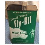 Fly-Kil Tin w/ half top cut out