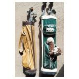 2) Old Bags of Golf Clubs