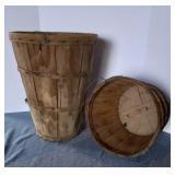 """1) Orchard Basket, 20"""" h & Bushel Basket, 10"""""""