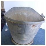 Galvanized Bucket & Coal Buckets, has holes in